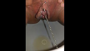 My Creamie Pissing Pierced Cunt
