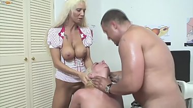 Big Tit Blonde MILF Gets Fucked Hard by the Doctor