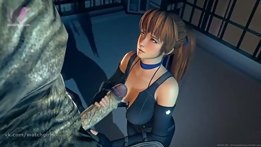 Kasumi in a monster fuck