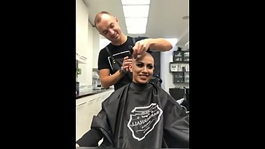 Marina rasova live headshave on instagram