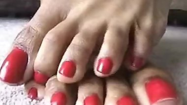 Ebonyt Laura's Long Red Toenails *THROWBACK*