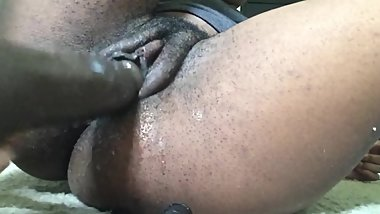 HAIRY CUNT PISSES AND CUMS OVER BBD THINKING ABOUT BEING FUCKED IN THE ASS