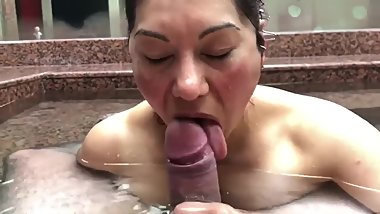Milf Blowjob Big Cock in Water