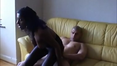 Swedish-Indian Rosita sucks and fucks on the couch