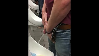 Nice Long Piss from a Perfect Thick Cock.