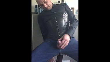 Blusenstute Mario Woltmann gay anal dildo 3-button-collar blouse and corset