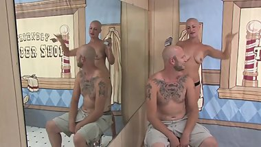 Jennifer says take it all off (Couple Headshave )