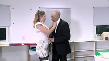 Behind The Scenes Of My Hot Office Sex Scene With Fallon West in BAD WIVES!