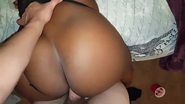 PULLING MY FRIENDS MOMS PANTIES TO THE SIDE FUCKING HER DOGGYSTYLE POV