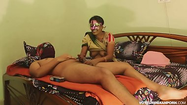 Mature Indian Bhabhi Seducing Young College Boy Full Fucking