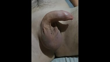 Watch my small virgin uncut cock get hard and grow to 6 inches