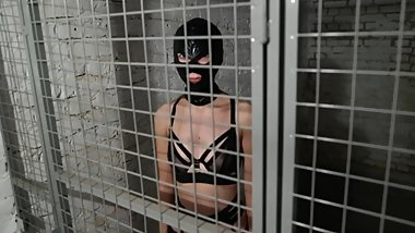 Teen Slave tries to escape from her cage and gets punished badly (premium)