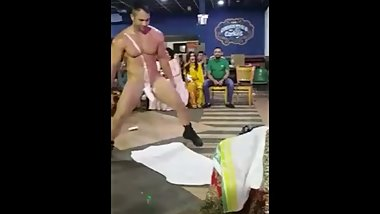 Indian Punjabi bride get lap dance by jiglo in private wedding party
