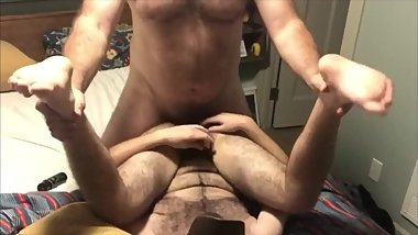 Hairy college freshman gets fucked and sucked by Seattle Dad