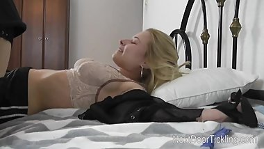 Teen Eveline behind the scene tickle torture