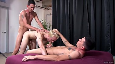 ActiveDuty Straight Military TWINS Bareback Young College Boy