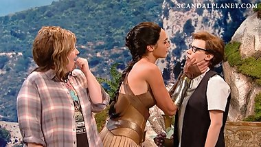 Gal Gadot Lesbian Kiss With Kate McKinnon On ScandalPlanet.Com