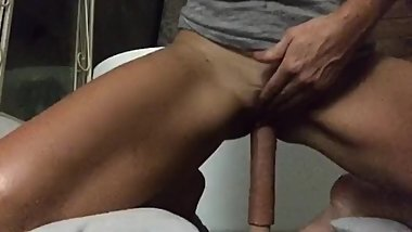My Sweet Petite rides her big dildo ,part 2