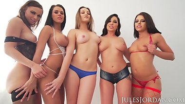 Jules Jordan - Orgy Masters Sex Party DP, Anal, And Cum In Their Mouth!