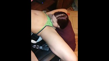 Daddy recorded me eating the pussy while touchin me and my ass