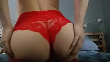 Sissy Shows Off Her Ass