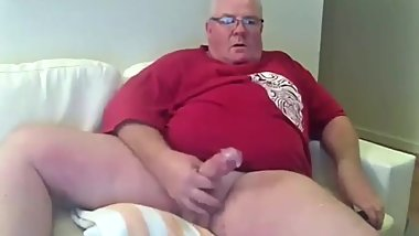 Gorgeous Grandpa Think Cock Jerk and Cum