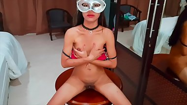 Tiny young Thai girl enjoy herself - GF 18 years Asian