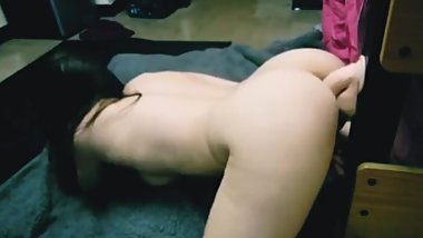 First vid fucking my suction cup dildo