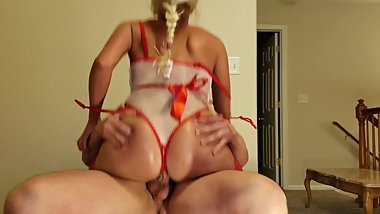 Tight pussy nurse rides cock and cums
